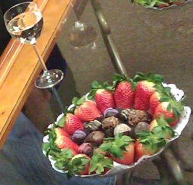 Wine, Fruit and Chocolates